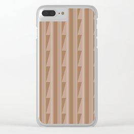 Modern Geometric Pattern 8 in Cinnamon Spice Clear iPhone Case