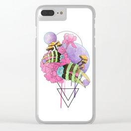 Hornbill Skull - Rainbow Clear iPhone Case