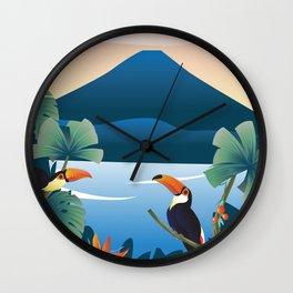 Costa rica travel poster Wall Clock