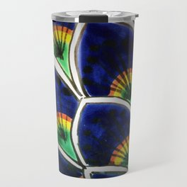 Hand Painted Peacock Plumes Travel Mug