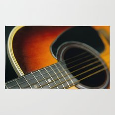Guitar - Acoustic close up Rug