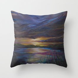out of darkness comes light Throw Pillow