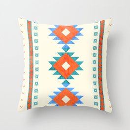 geometry navajo pattern no3 Throw Pillow