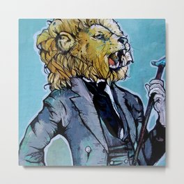 the Dandy Lion Metal Print