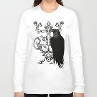 raven Long Sleeve T-shirts featuring Raven by Кaterina Кalinich