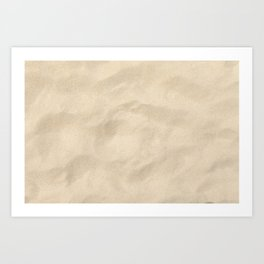 Light Brown Sand texture Art Print