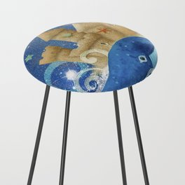 Sandcastle Waves Whales Counter Stool