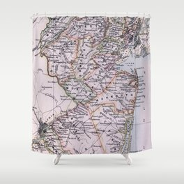 Vintage Map of New Jersey (1884) Shower Curtain