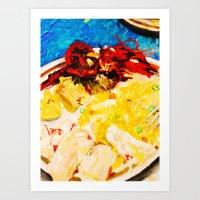 Seafood & Fried Rice Art Print