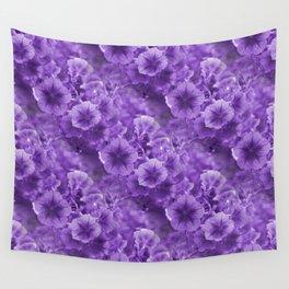 Pansies in Purple.... Wall Tapestry