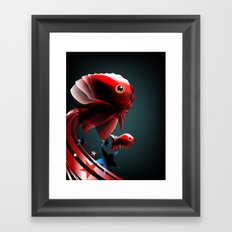 Angel Fish Framed Art Print