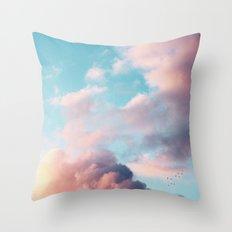 Clouds Paradise Throw Pillow