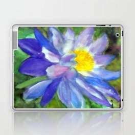 Blue Violet Lotus flower Laptop & iPad Skin