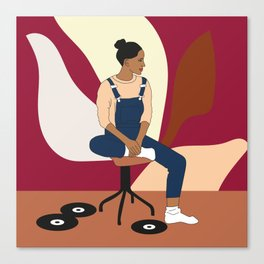 Vinyls lover Canvas Print