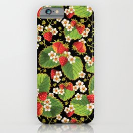 Strawberries Botanical iPhone Case