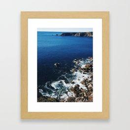 November Blues Framed Art Print