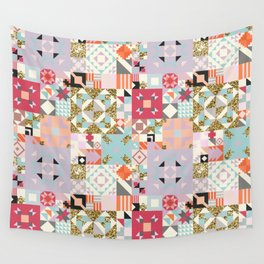 Moroccan Quilt Pattern Wall Tapestry