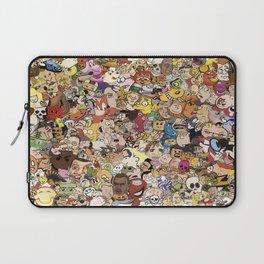 Cartoon Collage Laptop Sleeve