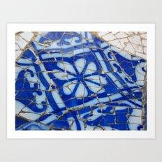 Barcelona Blue Art Print