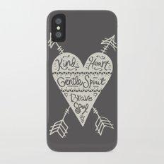Kind Gentle Brave 2 iPhone X Slim Case