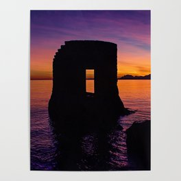 Antibes at Sunset Poster