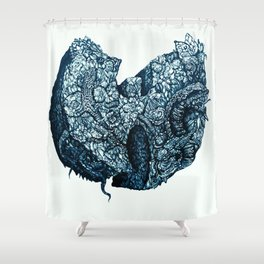 Wu-Tang Ain't Nothing to F' Wit - Blue Shower Curtain