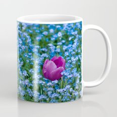 Pink Tulip in the blue Mug