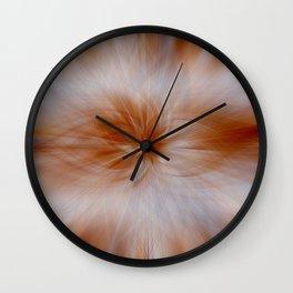 Painted Flower in Streak Blend Wall Clock