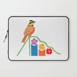 Bird on a slide Laptop Sleeve