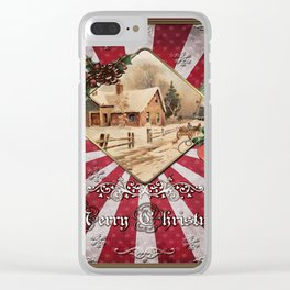Christmas Vintage 143 Clear iPhone Case