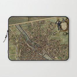 Old Paris Map and other manuscripts Laptop Sleeve