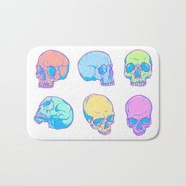 Colored skulls Bath Mat