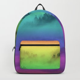Yellowstone Wolves in the Mist Backpack