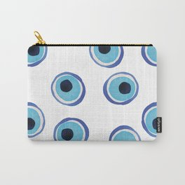 Evil Eye Watercolor Pattern (Mati) Carry-All Pouch
