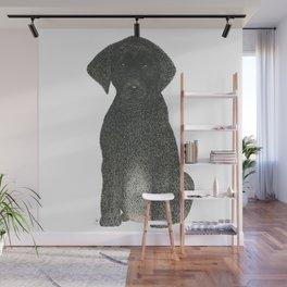 """Boogie"" the Black Labrador Puppy Wall Mural"