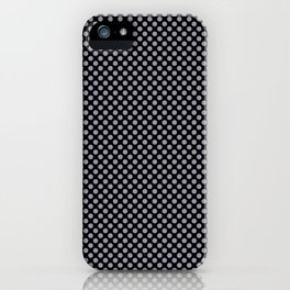 Black and Lilac Gray Polka Dots iPhone Case