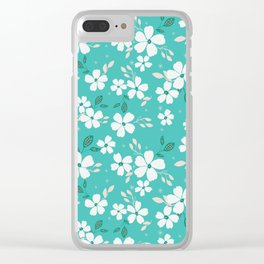 Torque Floral Clear iPhone Case