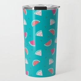 watermelon new cute art 2018 pattern texture love colour color Travel Mug