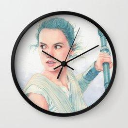 Rey watercolor Wall Clock