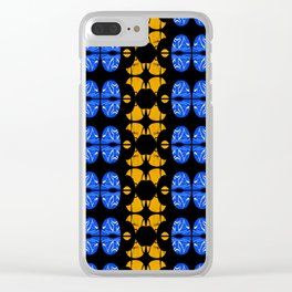 Vintage African Modern Textile Geometric Clear iPhone Case