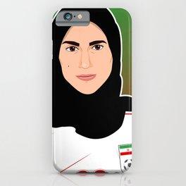 Iranian women attend first soccer match since 1981 iPhone Case