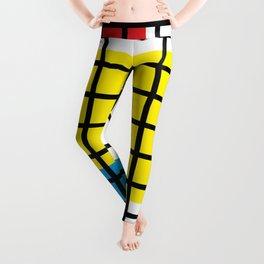 Modern geometric background, red, yellow, green,orange and blue  #society6 #decor #buyart #artprint Leggings