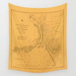 Map of Buffalo 1856 Wall Tapestry