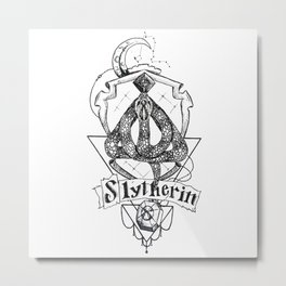 The Cunning House of Slytherin Metal Print