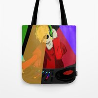 homestuck Tote Bags featuring Dave the DJ by The Clifthanger