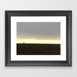 West Dyke Sunset Framed Art Print