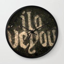 iloveyou Wall Clock