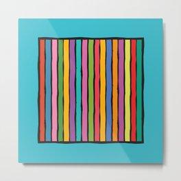 dp203-6 Colorful Stripes Metal Print