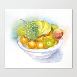 Fruitbowl Canvas Print