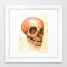deaths grinning head Framed Art Print